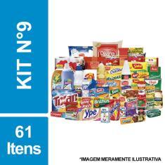 Imagem de Cesta Básica De Alimentos, Higiene E Limpeza C/ 61 Itens