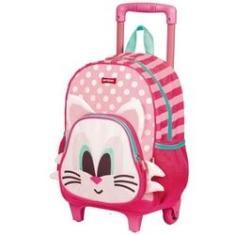 Imagem de Kit Mochila Infantil Feminina Escolar Com Rodinha Kids Cat - 065142-00