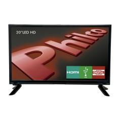 """TV LED 20"""" Philco PH20M91D 1 HDMI USB Frequência 60 Hz"""