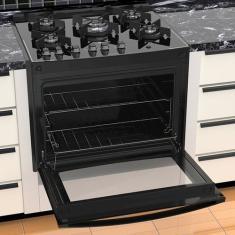 Fogão de Embutir Dako Turbo Glass DE5VT-PF0 5 Bocas Acendimento Superautomático Grill