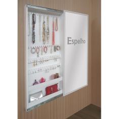 Imagem de Porta Jóias Perfumes Brincos E Acessórios De Parede Com Espelho