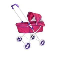 Imagem de Carrinho Berço Shine Princess - Boneca Brinquedo Reborn Pink