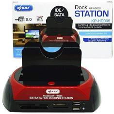 DOCK STATION USB 2 HD CASE 2.5/3.5 SATA HDD COM LEITOR DE CARTOES UNIVERSAL