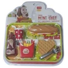Imagem de Mini Chef Kit Lanchonete Sanduíche 1145.4 Xalingo
