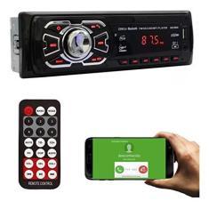 Imagem de Radio Som Automotivo Bluetooth Controle Remoto Mp3 Usb Sd