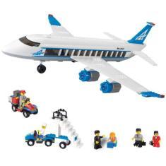 Imagem de Blocos De Encaixe - Embarque Imediato Avião De Passageiros - 434 Peças - Xalingo