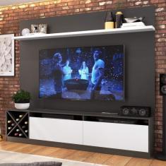 Imagem de Estante Home Para Tv Até 60 Polegadas E Adega Vercelli Quiditá Grafite/