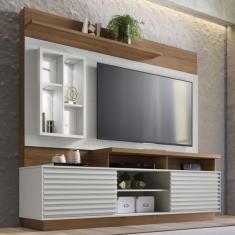 Imagem de Estante Home Com Led Para Tv Até 65 Polegadas Eldorado Linea Brasil Off White/Nogueira