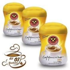 Imagem de Kit 3 Cappuccino Diet 3 Corações 150g