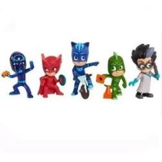 Imagem de PJ Masks - Pack com 5 Personagens - Menino Gato - Lagartixo - Corujita - Romeo e Ninja Noturno BR1264 - Pjmasks Multikids