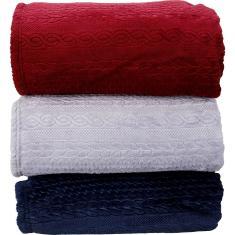 Imagem de Cobertor Queen Flannel 3D Lien - Casa & Conforto