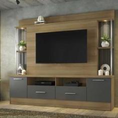 """Imagem de Home Afeto para TV até 65"""" Jcm Móveis Cestaplus Noronha/ Grafite"""