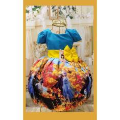 Imagem de Vestido Infantil tema Princesa Gelo 2