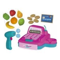 Imagem de Caixa Registradora De Brinquedo Com Acessórios E Som