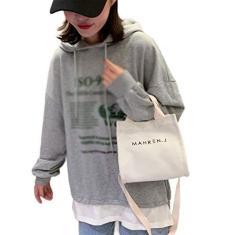 Imagem de Kaczmarek Bolsa de Lona Bolsa Mensageiro de Um Ombro Feminino Lidar com Carta de Alta Capacidade Simples Portátil Bolsa Quadrada Pequena