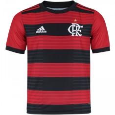 Camisa Infantil Flamengo I 2018 19 sem Número Torcedor Infantil Adidas f9b6260ce29ab