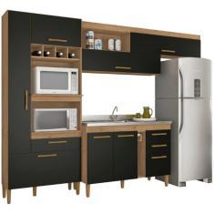 Imagem de Cozinha Compacta 3 Gavetas 8 Portas Napoles Atualle Móveis