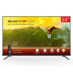 "Smart TV LED 55"" TCL 4K HDR 55P8M 3 HDMI"