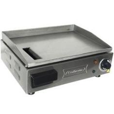 Chapa Lanches Elétrica Grill 40x30 1200w 220v Cozinha Cotherm 2522 Profissional Industrial Inox
