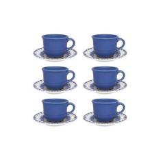 Imagem de Jogo 6 Xícaras De Café Com Pires Floreal La Carreta Oxford