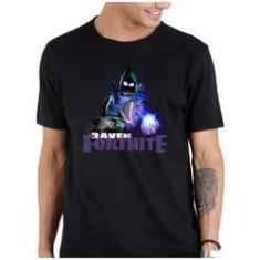 Imagem de Camiseta masculina algodao Fortnite logo laranja battle royale
