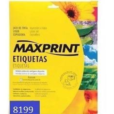 Imagem de Etiqueta Auto Adesiva Papel Carta 10 Etiquetas por Folha Pacote com 10 Folhas Ref: 8199