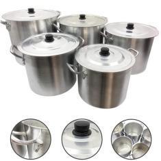 Imagem de Jogo Caldeirão Alumínio Panela Sopa Feijoada 26 28 30 32 34