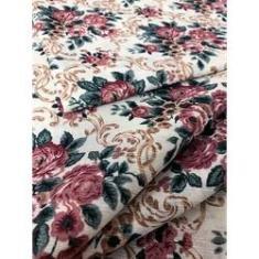 Imagem de Tecido para decoração Gorgurinho floral vintage bege vinho