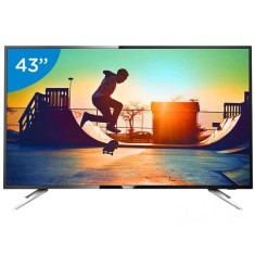 "Smart TV TV LED 43"" Philips Série 6000 4K Netflix 43PUG6102 4 HDMI"