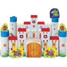 Imagem de Castelo Encantado Madeira 64 Peças Brinquedo Para Montar