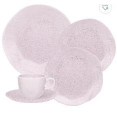 Imagem de Aparelho de Jantar Redondo de Porcelana 30 peças - Ryo Pink Oxford Porcelanas