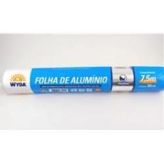Folha De Aluminio 7,5mx30cm