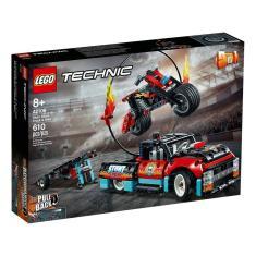 Imagem de LEGO Technic - Moto e Caminhão de Acrobacias - 42106