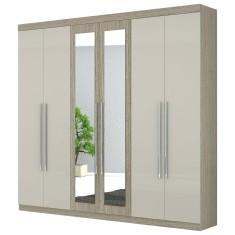 Imagem de Guarda-Roupa Casal com Espelho 6 Portas 3 Gavetas Tunísia Moval