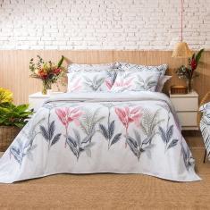 Imagem de Jogo de Cama - Casal - Home Design - Palm - 4 Peças - 100% Algodão - Santista