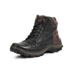 Imagem de Bota Adventure Couro LegItimo FOssil Trekking Dual Stop Boots - R43 -  796