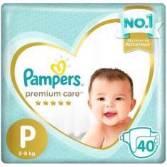 Imagem de Fralda Pampers Premium Care Tamanho P 40 Unidades Peso Indicado 5 - 8kg