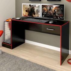 Imagem de Mesa Gamer Stone Ideal Para 2 Monitores Preto/vermelho - Pnr Móveis