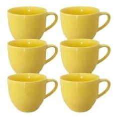 Imagem de Jogo 6 Xícaras Café Porcelana Amarela S Pires