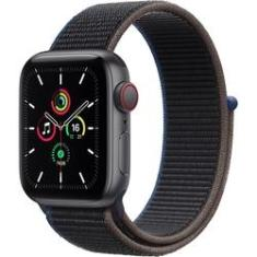 Apple Watch SE 40mm Caixa -Espacial e Pulseira Esportiva Carvão