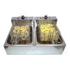 Imagem de Fritadeira Elétrica 2 Cubas 10 Litros INOX - 220V ou 110v BONI