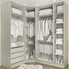 Imagem de Guarda-Roupa Closet 3 Gavetas Prime Luciane Móveis