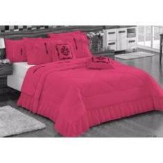 Imagem de Kit Cobre Leito Esplendore Casal Padrão 7 Peças - Pink