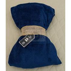 Imagem de Manta Cobertor Microfibra Pé Quente Adulto  Marinho