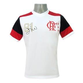 0cb6c4e138a7ec Camisa Flamengo II 1981 Zico Nº 10 Retrô Masculino Braziline