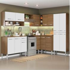 Imagem de Cozinha Completa 1 Gaveta 15 Portas Emilly Ice Madesa
