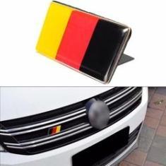 Imagem de 63mm X 32mm Universal Alemão Bandeira grade emblema emblema para VW Jetta Golfe Audi