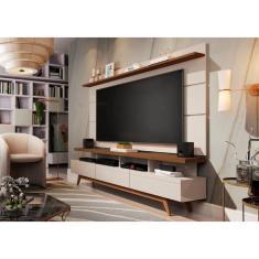 Imagem de Rack e Painel Germai Vivare Wood Off White / Freijo TV 72''