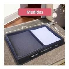 Imagem de Bandeja Tapete Higienizador Sanitizante 3 em 1: Limpa, Desinfeta e Enxuga