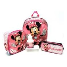 Imagem de Kit Escolar Infantil Feminina Mochila Infantil Minnie Mouse Lisa M Costas Meninas F5